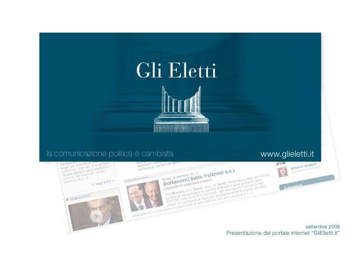 la comunicazione politica è cambiata                  www.glieletti.it                                                    ...