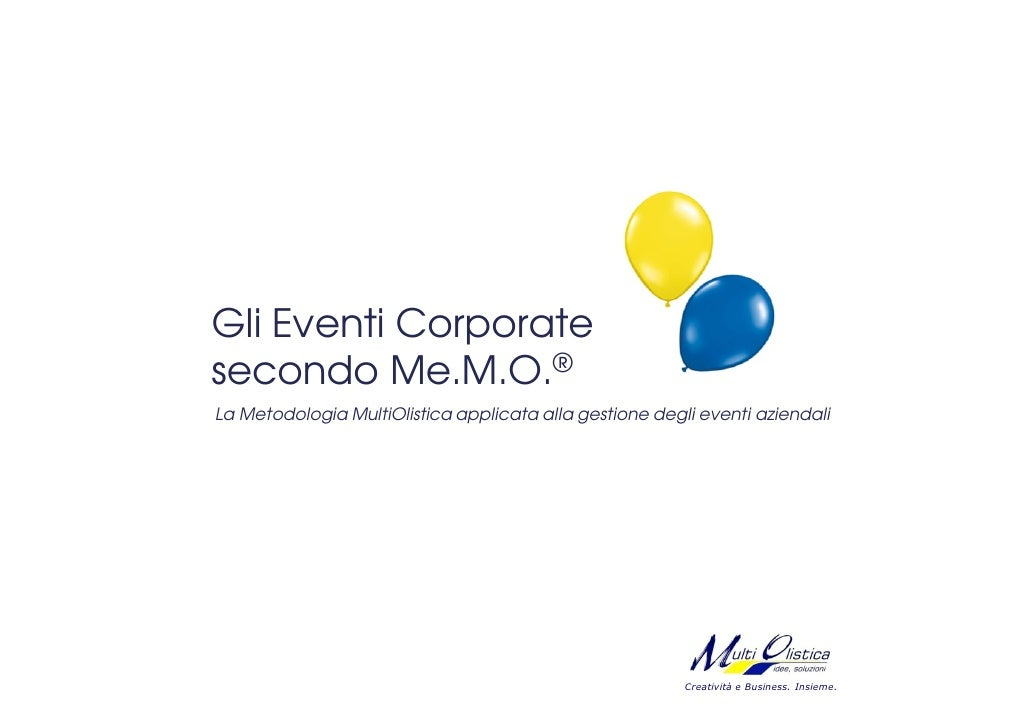 Gli Eventi Corporate secondo Me.M.O.