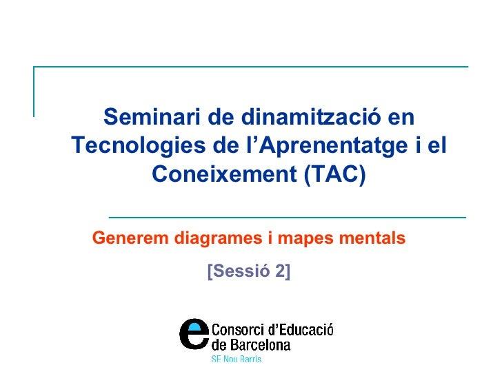 Seminari de dinamització en Tecnologies de l'Aprenentatge i el Coneixement (TAC) Generem diagrames i mapes mentals [Sessió...