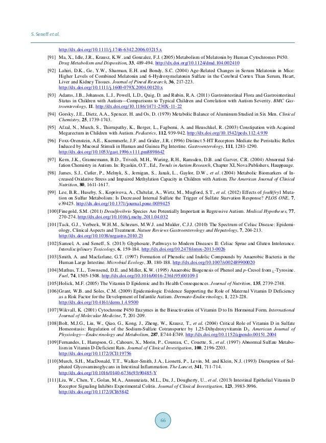 S. Seneff et al. 66 http://dx.doi.org/10.1111/j.1746-6342.2006.03215.x [91] Ma, X., Idle, J.R., Krausz, K.W. and Gonzalez,...