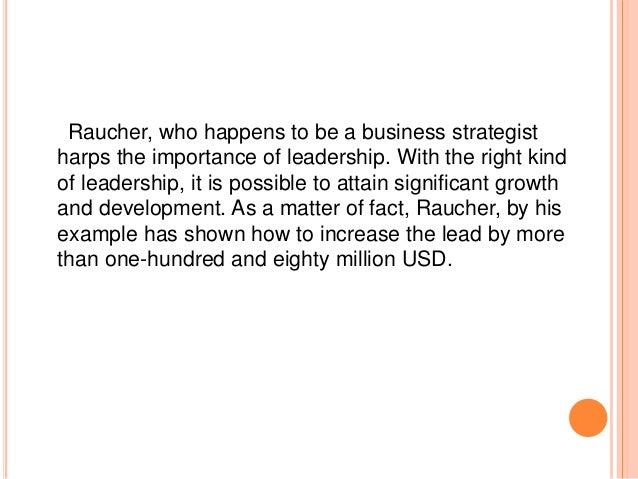 Glimpse into craig raucher   leadership skills for successful marketing professional Slide 3