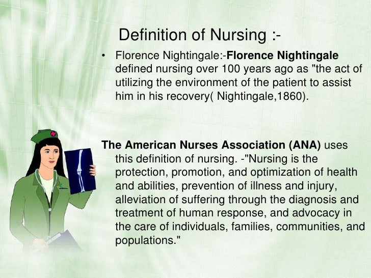 florence nightingale definition of nursing