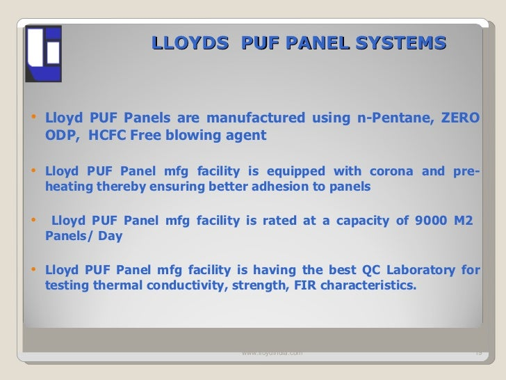Glimpses Of Technical Capabilities Of Lloyds For Cold