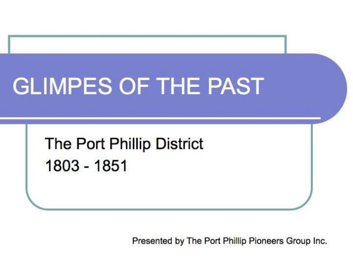 Glimpses of the Past Presentation