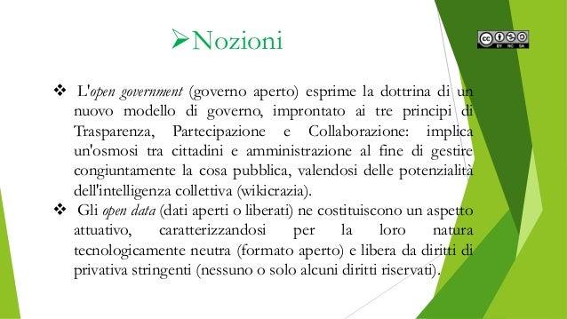 Gli open data nel panorama italiano Slide 3