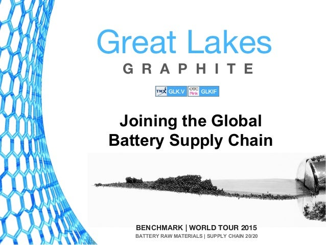 G R A P H I T E Great Lakes BENCHMARK | WORLD TOUR 2015 BATTERY RAW MATERIALS | SUPPLY CHAIN 20/20 Joining the Global Batt...