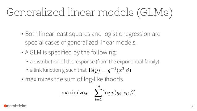 Generalized Linear Models in Spark MLlib and SparkR