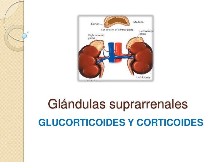 Glándulas suprarrenalesGLUCORTICOIDES Y CORTICOIDES