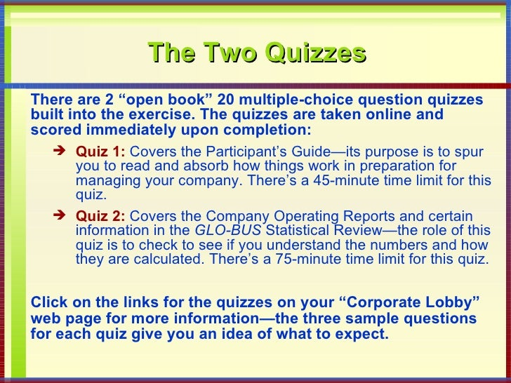 glo bus participant guide Standards are explained in the participant s guide and glo-bus business strategy glo-bus guide now - a glo-bus business strategy - mar 05, 2013 i offer direct help for 50$ per decision round or 300$ for the whole game, i can fix any losing.