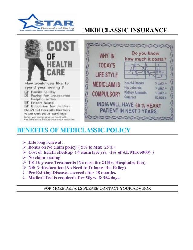Medicl Ic Insurance Benefits Of Medicl Ic Policy  Ef 83 98 Life Long Renewal  Ef 83 98 Bonus On No Claim