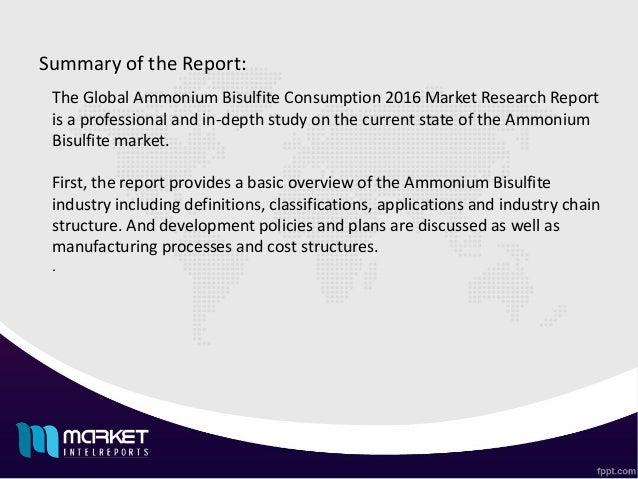 Major Developments involved in Global ammonium bisulfite consumption 2016 Market Slide 2