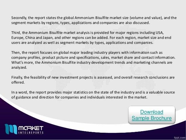 Major Developments involved in Global ammonium bisulfite consumption 2016 Market Slide 3