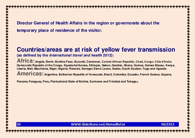 Director General of Health Affairs in the region or governorate about thetemporary place of residence of the visitor.Count...