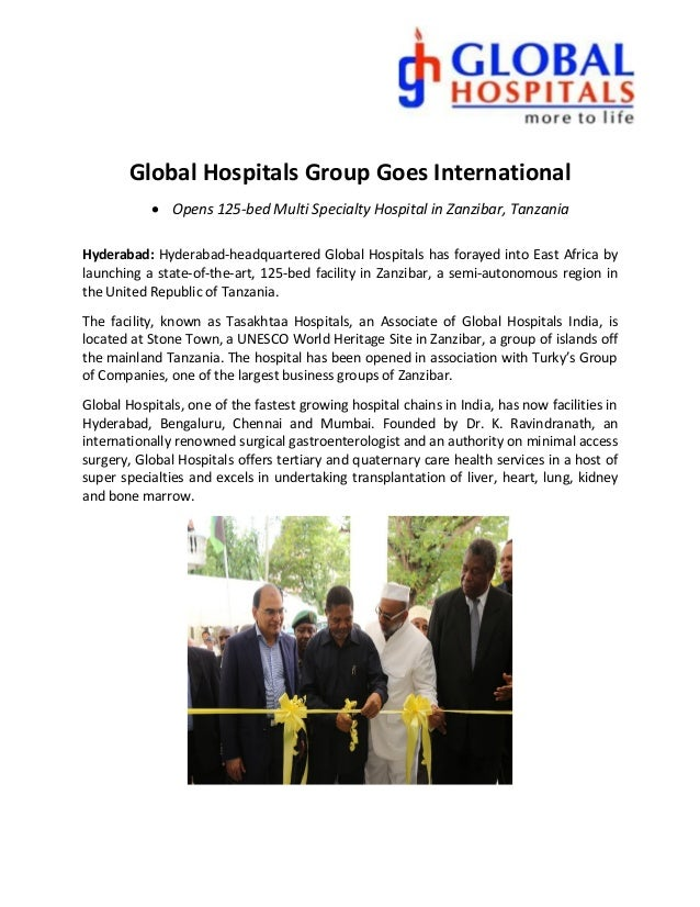 Global Hospitals Group Goes International