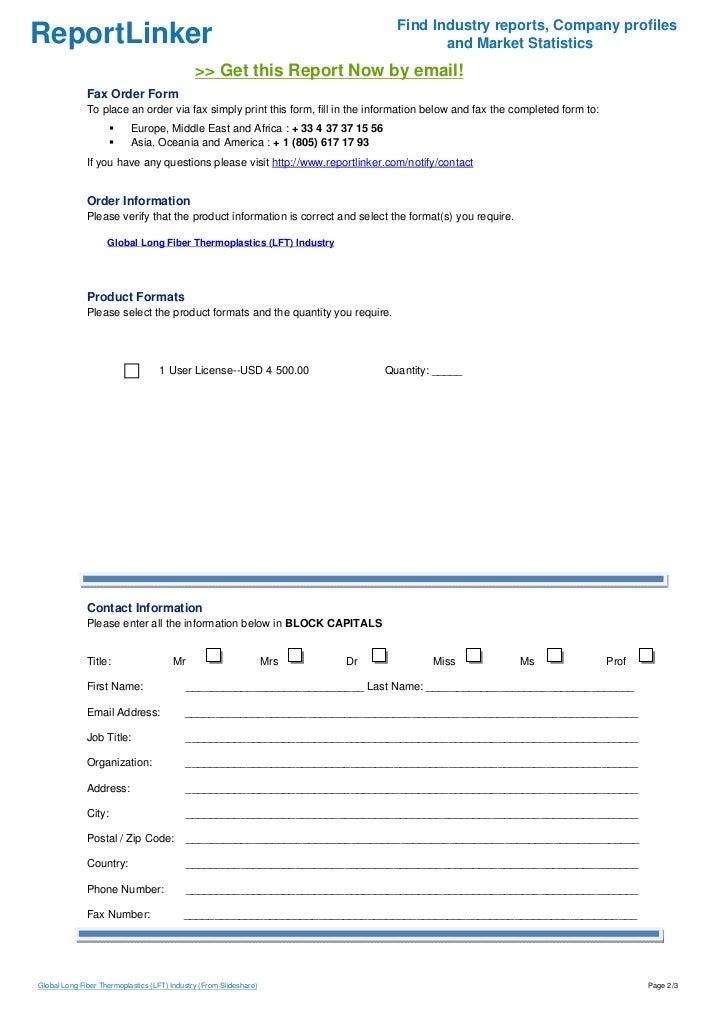 Global Long Fiber Thermoplastics (LFT) Industry