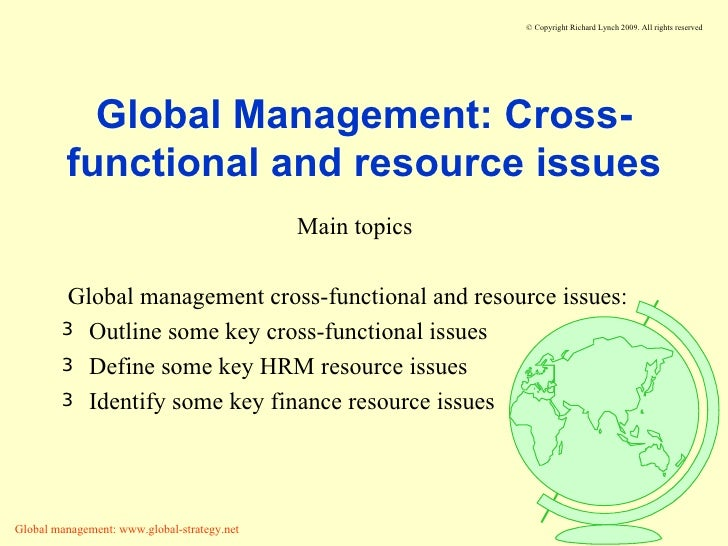 Global Issues in Strategic Management Paper