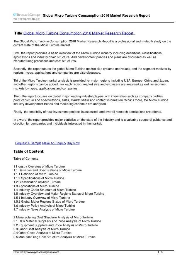 Global Micro Turbine Consumption 2016 Market Research Report Title:Global Micro Turbine Consumption 2016 Market Research R...