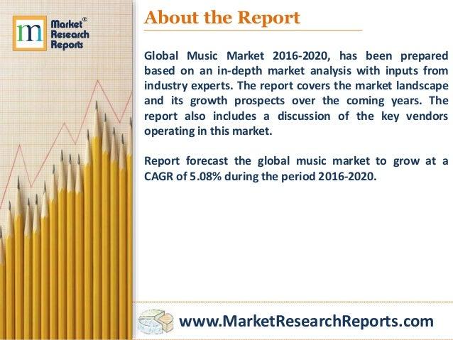 Global Music Market 2016 - 2020 Slide 3