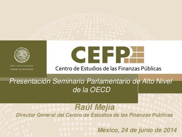 Presentación Seminario Parlamentario de Alto Nivel de la OECD México, 24 de junio de 2014 Raúl Mejía Director General del ...