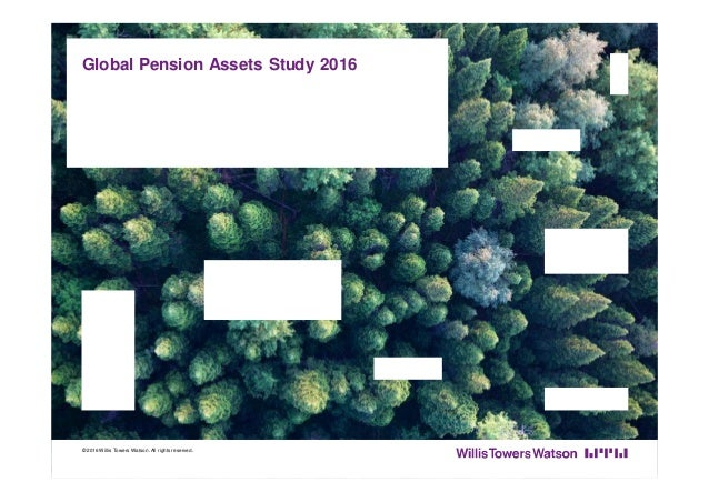 Global Pension Assets Study 2016 © 2016 Willis Towers Watson.All rights reserved.