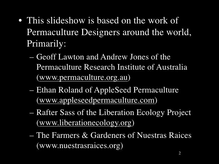 Global Permaculture In Action Slide 2