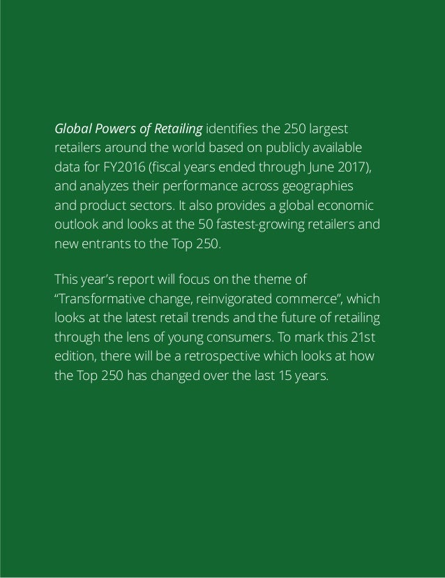 Global Powers of Retailing Deloitte 2018