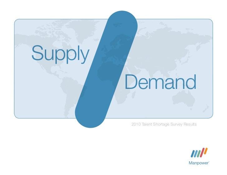 Supply         Demand         2010 Talent Shortage Survey Results