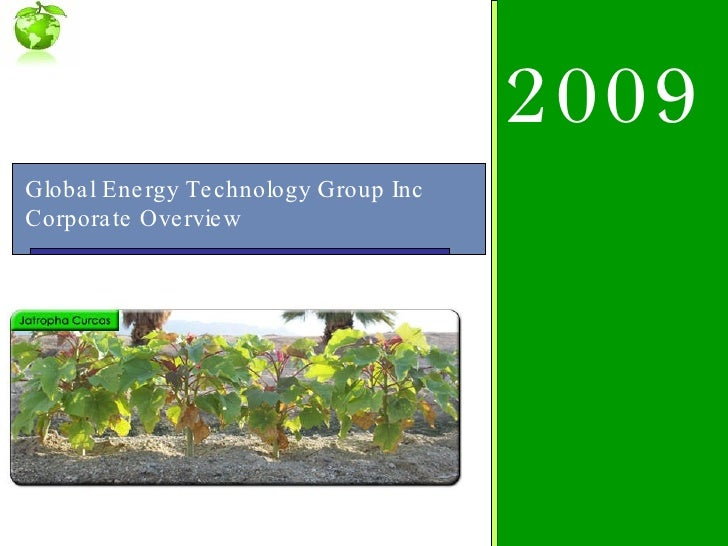 Global Energy Technology Group Inc  Corporate Overview 2009
