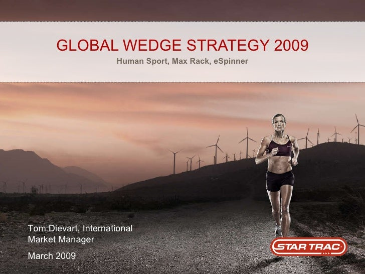 GLOBAL WEDGE STRATEGY 2009 Human Sport, Max Rack, eSpinner Tom Dievart, International Market Manager March 2009