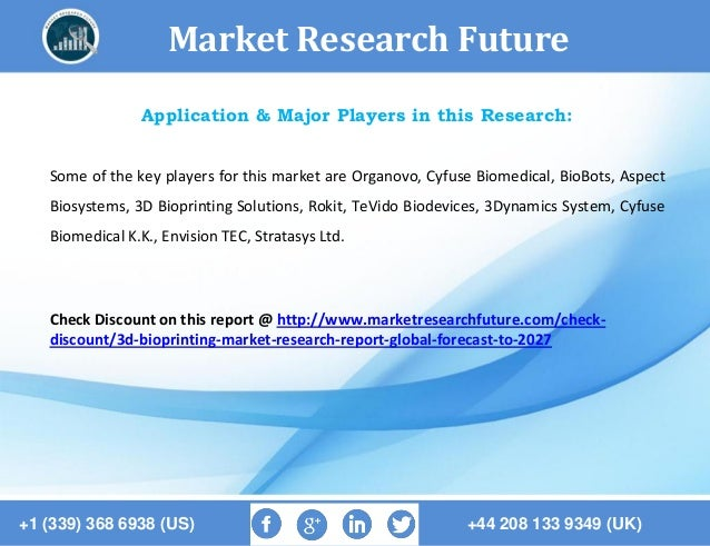 global three dimensional bioprinting market About 3d bioprinting a 3d bioprinter is a mechanical device that can print three-dimensional biological structures such as tissue or organs the materials used in the bioprinting process are specifically engineered and infused with living cells (except for metals and ceramics) .