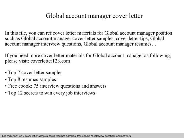 global account manager cover letter in this file you can ref cover ...