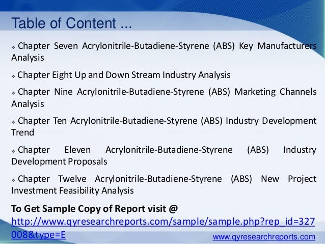 latest trend in acrylonitrile butadiene styrene Acrylonitrile butadiene styrene (abs) resin market report serves a professional  and detailed study of latest key business trends and.