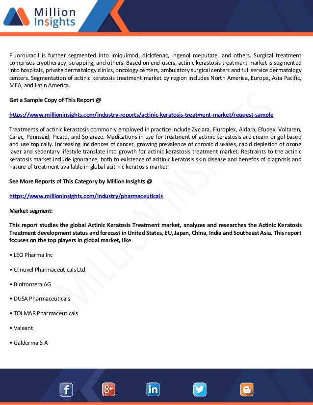 Global actinic keratosis treatment market size, share, capacity, f…