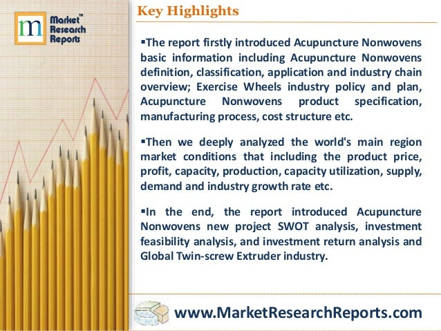 www.MarketResearchReports.com Key Highlights The report firstly introduced Acupuncture Nonwovens basic information includ...