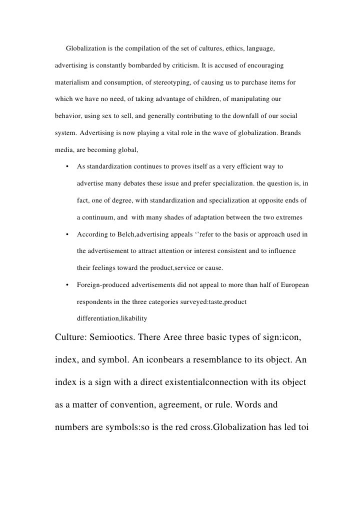 term paper on advertising