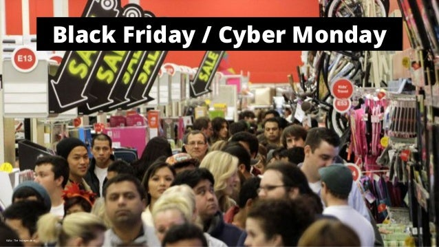 Black Friday / Cyber Monday  Källa: The Independent