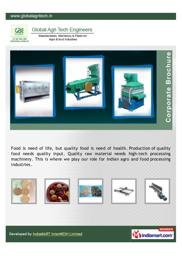 Food is need of life, but quality food is need of health. Production of qualityfood needs quality input. Quality raw mater...