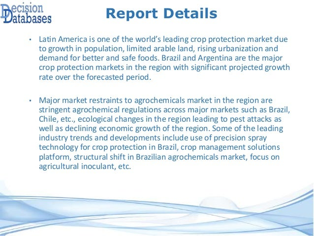 the global herbicides market projected to Herbicides market- global opportunity analysis and industry forecast (2017-2022.