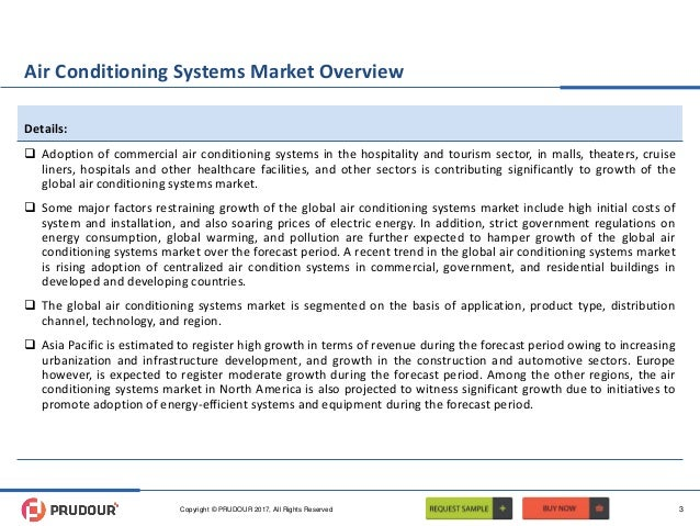 Air Conditioning Systems Market Overview  Adoption of commercial air conditioning systems in the hospitality and tourism ...