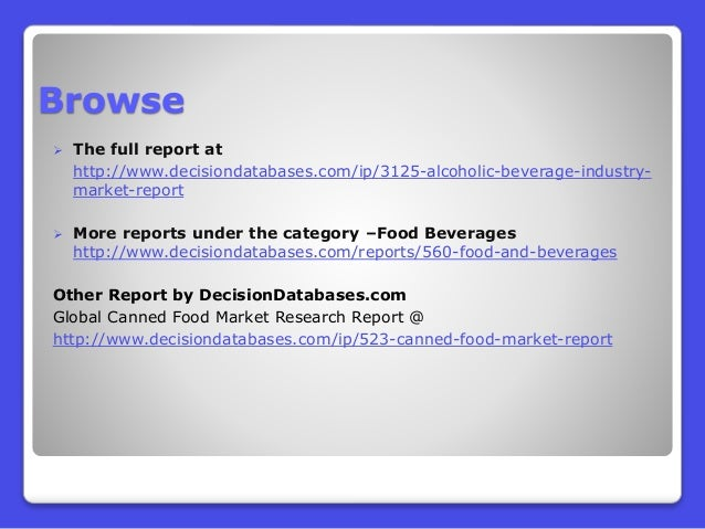microeconomic analysis of the beverage industry Free coursework on case analysis of the soft drink industry from essayukcom, the uk essays company for essay, dissertation and coursework writing.