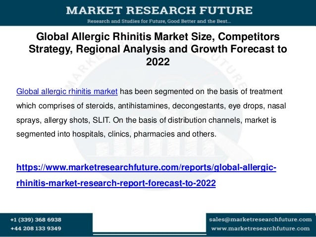 Global Allergic Rhinitis Market Size, Competitors Strategy, Regional Analysis and Growth Forecast to 2022 Global allergic ...