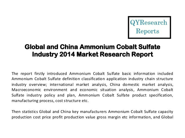 global and china ferrous sulfate industry The report named global ferrous sulfate market serves crucial perceptions into global ferrous sulfate industry along with newfangled industry details, currently dominating players in ferrous sulfate, chapter wise analysis of each section and looming industry trends, which will guide the readers to target ferrous sulfate market product specifications and clients driving the long-term.