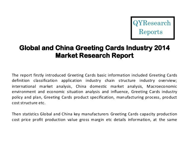 Global and china greeting cards industry 2014 market research structure industry overview 2 global and china greeting cards m4hsunfo