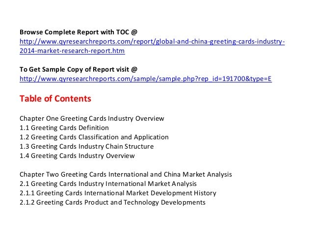 Global and china greeting cards industry 2014 market research report 4 m4hsunfo