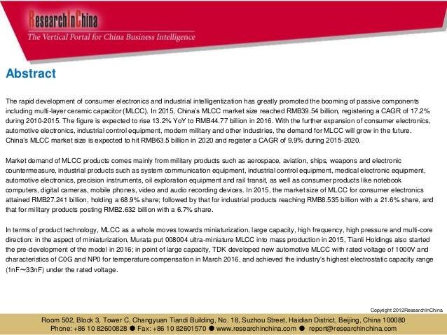 Global and china multi layer ceramic capacitor (mlcc) industry report, 2017-2020 Slide 3