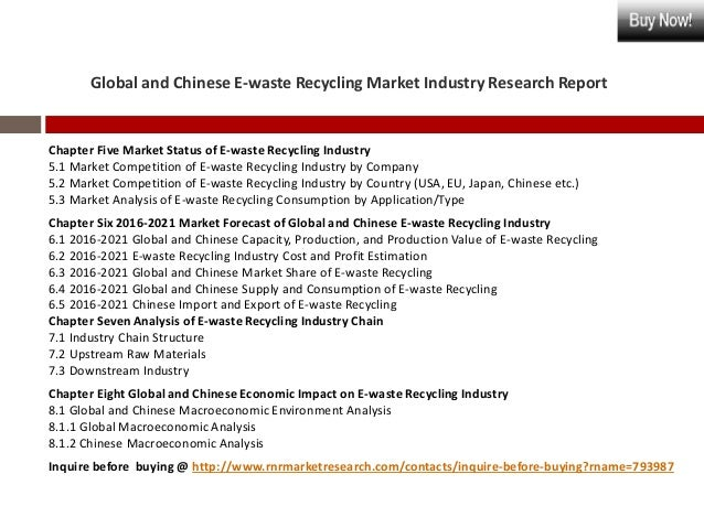 """global industrial waste recycling and services The report """"industrial waste management market by services (collection, recycling, incineration, landfill) & geography (asia-pacific, europe, middle east & africa, americas) - global trends and forecasts to 2019"""" defines and segments the global industrial waste management market with an analysis and forecast of the revenue."""