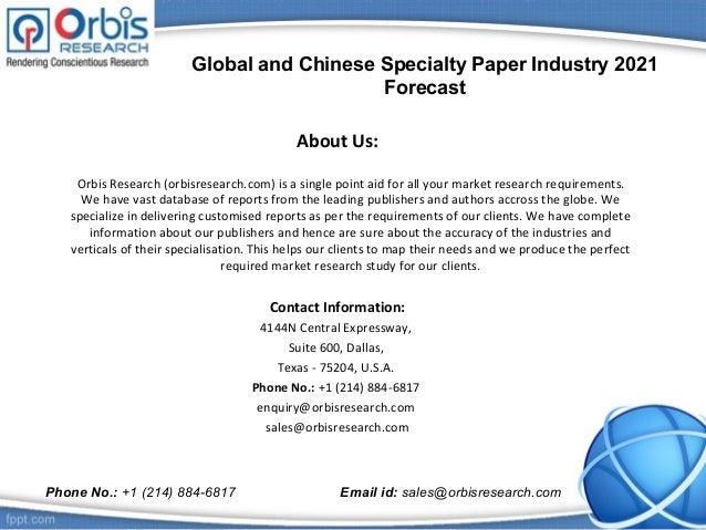 Specialty paper market research