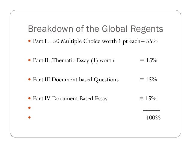 Ny regents prep global history thematic essay