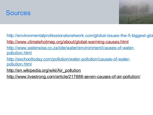 List of environmental issues