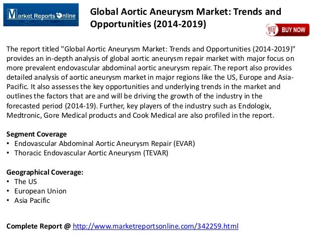 Complete Report @ http://www.marketreportsonline.com/342259.html Global Aortic Aneurysm Market: Trends and Opportunities (...